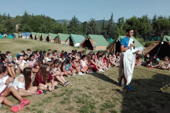 Segundo día de campamento: antorchas